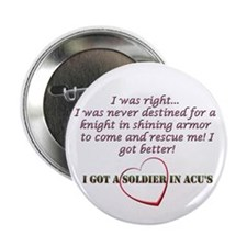 "A soldier in ACU's 2.25"" Button"