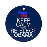 Keep Calm Obama Ornament (Round)