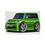 Scion XB Green Car Rectangle Magnet