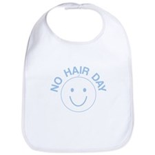 No Hair Day Blue Bib