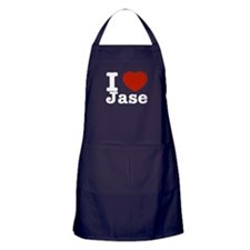 I love Jase Apron (dark)