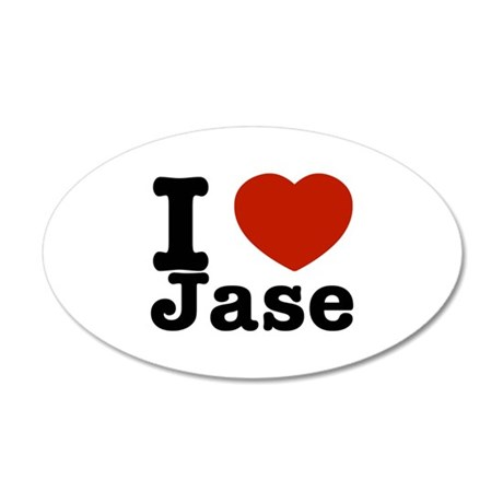 I love Jase 38.5 x 24.5 Oval Wall Peel