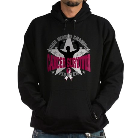 Throat Cancer Tough Men Survivor Hoodie (dark)