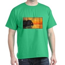 Etretat, Cliff of d`Aval, Sunset, Monet, T-Shirt