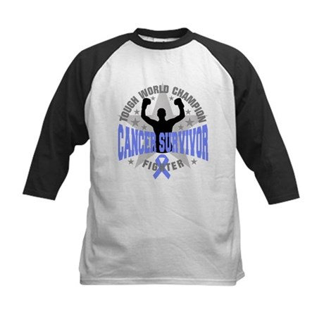 Stomach Cancer Tough Men Survivor Kids Baseball Je