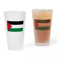Palestine Flag Drinking Glass