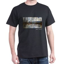 Flood of the Seine at Vetheuil, Monet T-Shirt