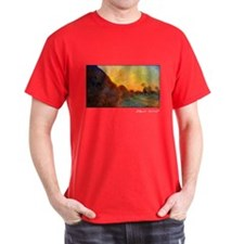 Monet Painting, Grainstacks, 1890, T-Shirt