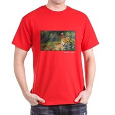 Monet Painting, In the Garden, 1895, T-Shirt