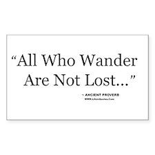 """Wander"" Rectangle Decal"