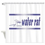 Water Rat Waterskiing Shower Curtain