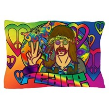 Psychedelic Peace Retro 60's Pillow Case