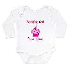 1st Birthday Cupcake Long Sleeve Infant Bodysuit