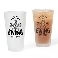 Dallas Retro Ewing Oil Drinking Glass