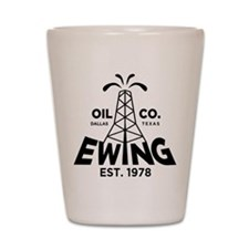 Dallas Retro Ewing Oil Shot Glass