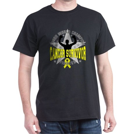 Skin Cancer Tough Men Survivor Dark T-Shirt