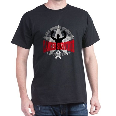Retinoblastoma Tough Men Survivor Dark T-Shirt