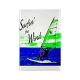 Surfin' the Wind Rectangle Magnet