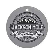 Jackson Hole Grey Ornament (Round)