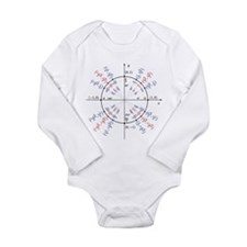 unit circle funny math geek Long Sleeve Infant Bod
