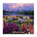 Can You Find Jesus? Tile Coaster