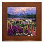 Can You Find Jesus? Framed Tile