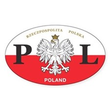 PL Car Decal - Polish Hritage - Oval Decal