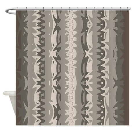 brown and grey shower curtain 01004 00006 by shower curtains. Black Bedroom Furniture Sets. Home Design Ideas