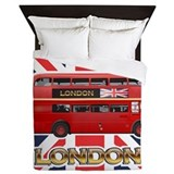 Red Bus Queen Duvet
