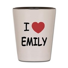 I heart emily Shot Glass