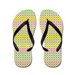 Flip Flops, Yellow Pattern