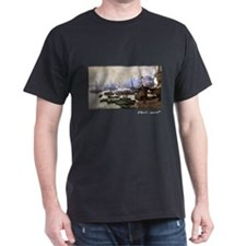 Boats in the Port of London, Monet, T-Shirt