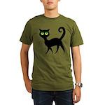 Cat With Green Eyes Organic Men's T-Shirt (dark)