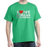 I Love My Korean Girlfriend Black T-Shirt