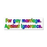 For gay marriage - Car Magnet 10 x 3