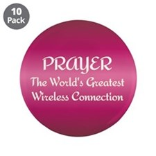"Prayer - World's Greatest Wir 3.5"" Button (10 pack"