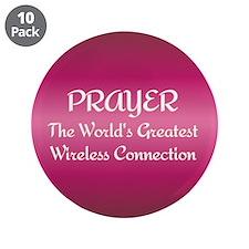 """Prayer - World's Greatest Wir 3.5"""" Button (10 pack"""