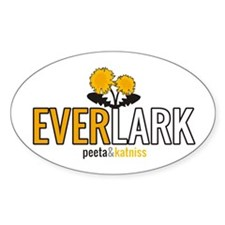 Everlark - Peeta and Katniss Sticker (Oval)