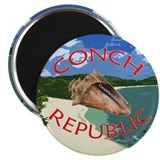 "Conch Republic (Party Band) 2.25"" Magnet (10 pack)"