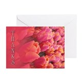 Rose Thanks Greeting Cards (Pk of 10)