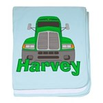 Trucker Harvey baby blanket