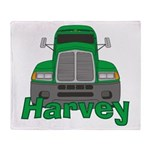 Trucker Harvey Throw Blanket