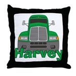 Trucker Harvey Throw Pillow