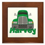 Trucker Harvey Framed Tile