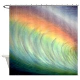 Banzai Pipeline Art Tropical Shower Curtain