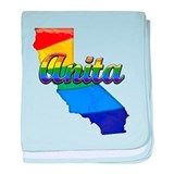 Anita, California. Gay Pride baby blanket