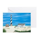 Ole Times at Cape Hatteras Greeting Cards (Pk of 1