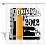Original Muscle Car Orange Shower Curtain