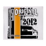 Original Muscle Car Orange Throw Blanket