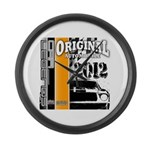 Original Muscle Car Orange Large Wall Clock